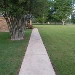 Freshly water blasted walkway