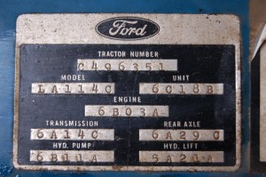 Ford ID Plate