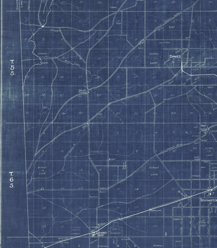 Duffee's 1918 Road Map w/o Tom Gaston Rd.