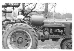 Dad 1974 on Farmall
